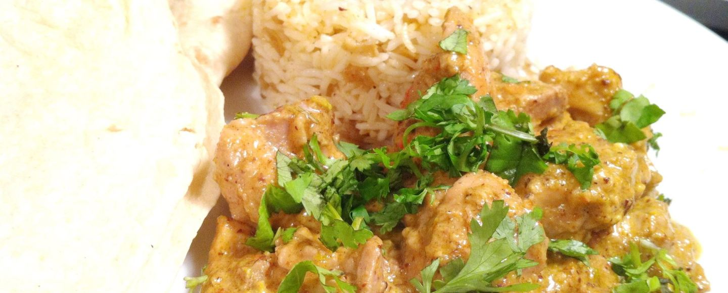 Chicken and Pistachio Nut Korma, Lay The Table