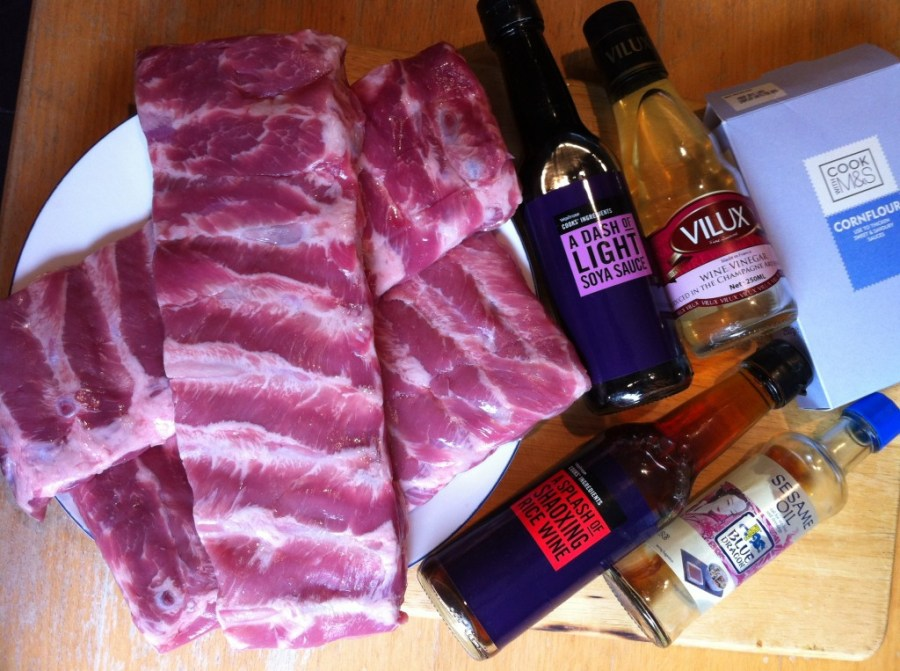 Sticky Chinese Pork Spareribs, Lay The Table