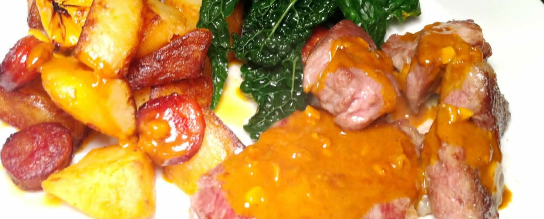 Iberico Pork Presa Steaks with Paprika Cream Sauce, Lay The Table