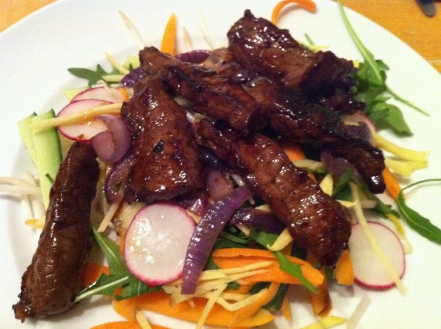 Japanese seared steak salad with ginger and fresh coriander, Lay The Table