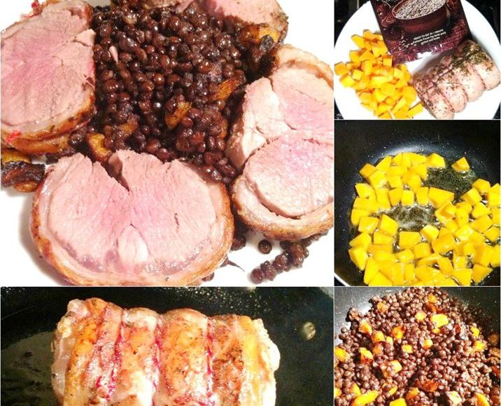 Crispy-Skin Saddle of Lamb with Puy Lentils, Lay The Table