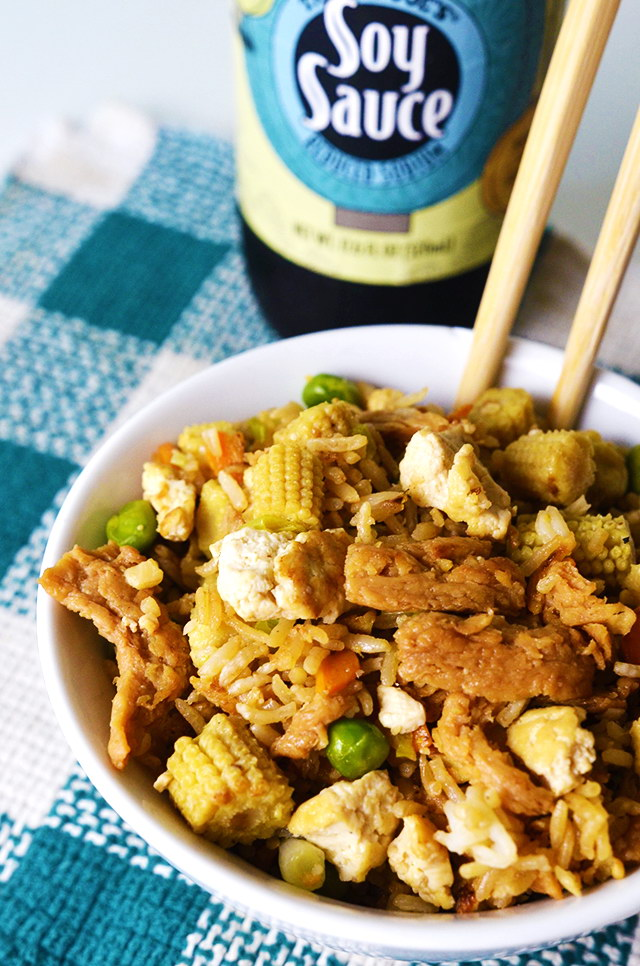 Legit Veggie Fried Rice w/ Soy Curls, Lay The Table