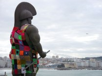 'Roman soldier,' the sculpture by Botero again , is located in Coruña, Spain.