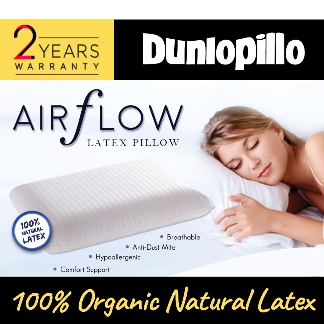 100 organic natural latex pillow airflow pincore hypoallergenic anti microbial superior neck support sleeps cool comfortable