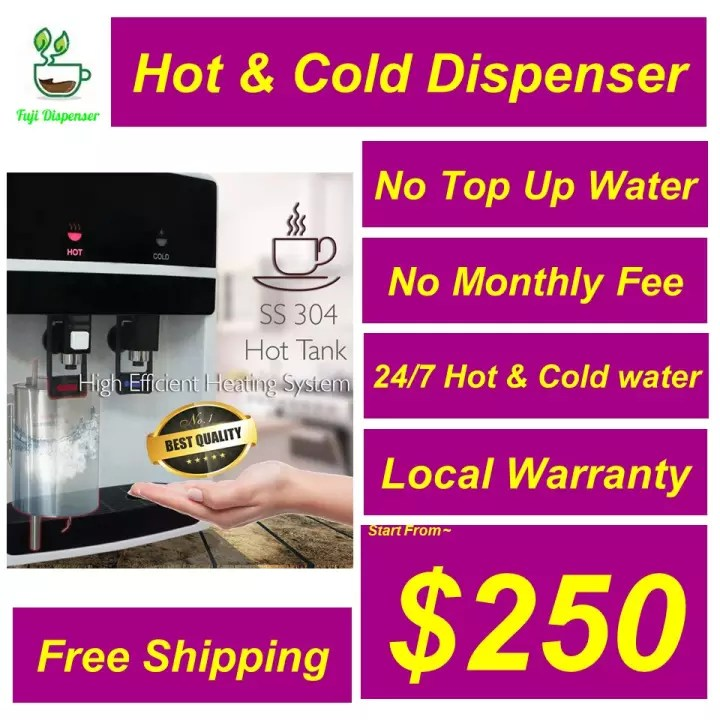 hot cold filter alkaline water dispenser direct piping to sink local seller local warranty cheapest