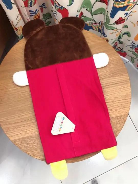 original green a toto bear buckwheat pillow case baby small size korean colourful cute red