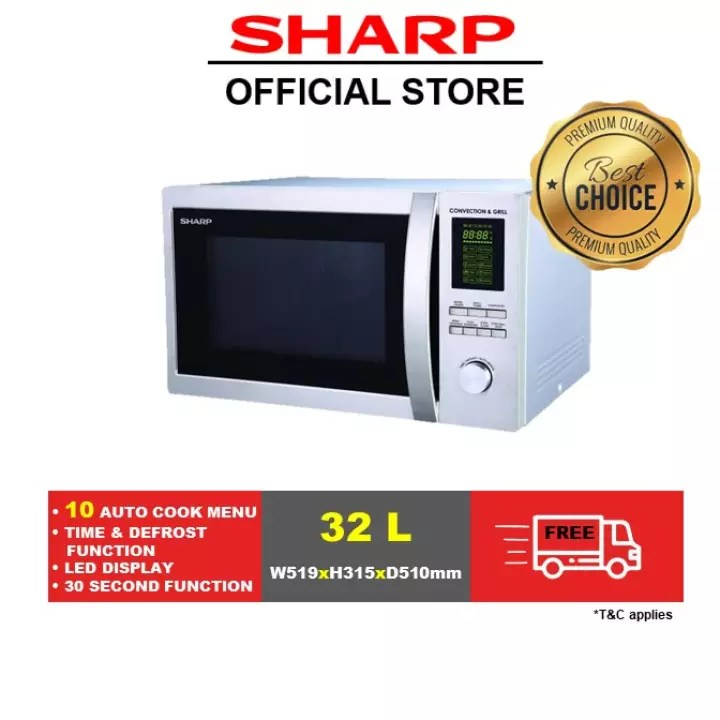 sharp microwave oven with grill and convection r 92a0 st v