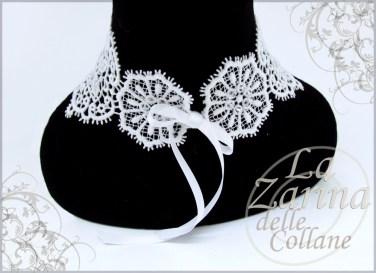 collarino con nastro, collarino swarovski, idee gioielli sposa, idea collana sposa, collarino sposa merletto,