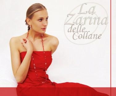 collana rossa, collana cristalli, collana lunga, look elegante,