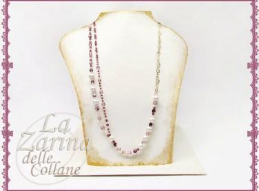 gioielli fashion, collana perle e cristalli, collana viola, collane sfiziose, gioielli fashion milano,