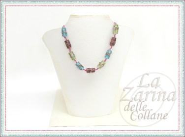 Collana con perle di vetro lavorate Rosaline