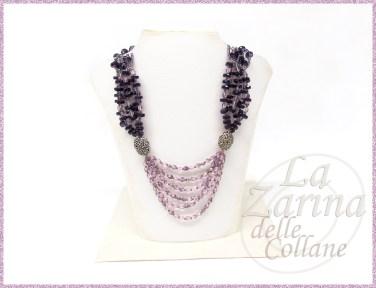 collana viola elegante