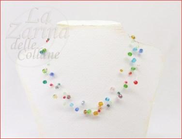collana leggera multicolor Aline