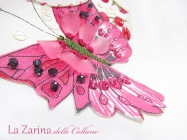 cristallini e ricamo farfalla