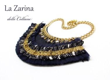 collana blu fashion design