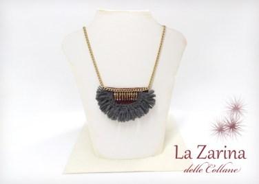 collana pendenti lana