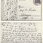 Noether postg card to Hilbert
