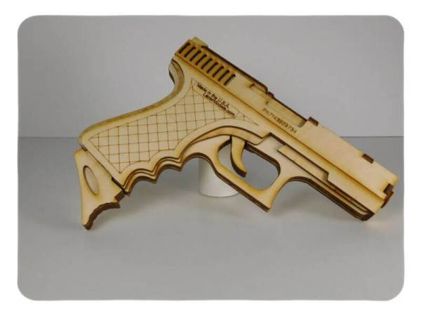 Wood Model 40 Cal Rubber band shooter Kit By-LazerModels 1