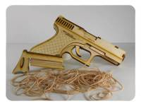 Wood Model 40 Cal Rubber band shooter Kit By-LazerModels