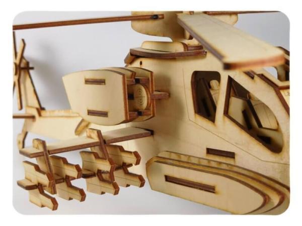 Wood Model Kit Apache By-LazerModels