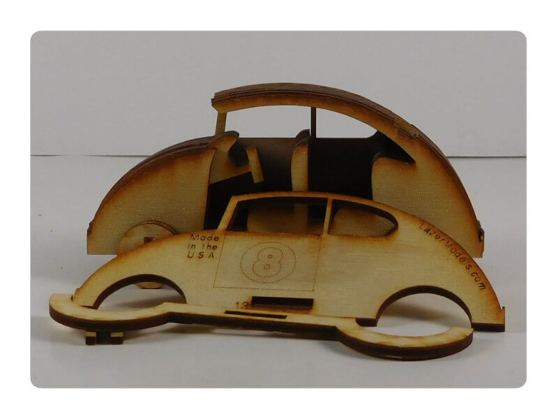 Wood Model Mini Bug Puzzle Kit By-LazerModels