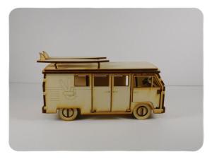 Wood Model Van Kit By-LazerModels