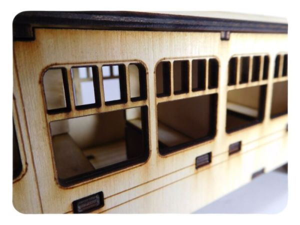 Wood Model HW Express Passenger Car Kit By-LazerModels