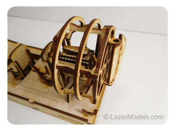 Wood Model Air Boat Kit By-LazerModels