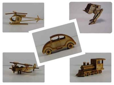 Wood Model Mini Puzzle Kit Deal By-LazerModels