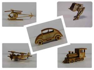 Wood Model Mini Puzzle Kit Deal By-LazerModels