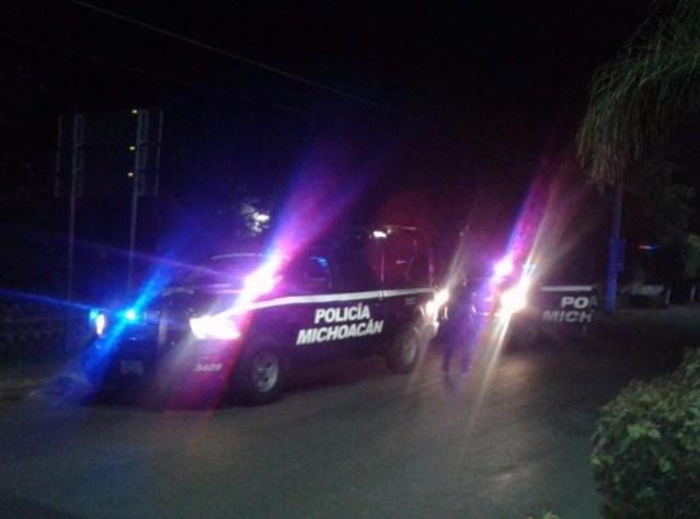 Agreden a tiros a elementos de la Policía Michoacán