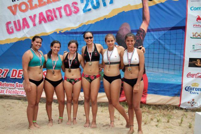 Michoacán oro, plata y bronce en el Nacional de Voleibol de Playa