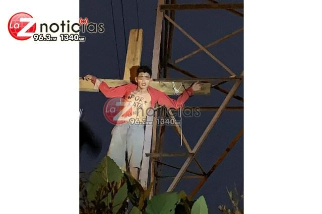 """""""Crucifican"""" """"pal Facebook"""" a presunto ladrón en Uruapan"""