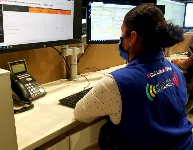 Orienta SSM a más de 3 mil michoacanos sobre COVID-19, a través de las líneas 800 y 911