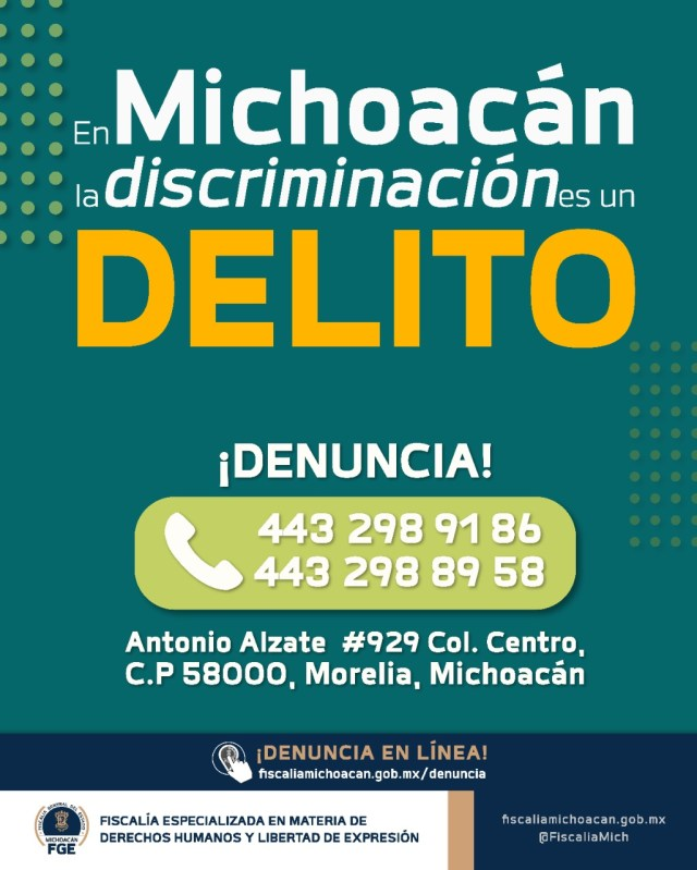Garantizar el derecho a la no discriminación, compromiso de la FGE