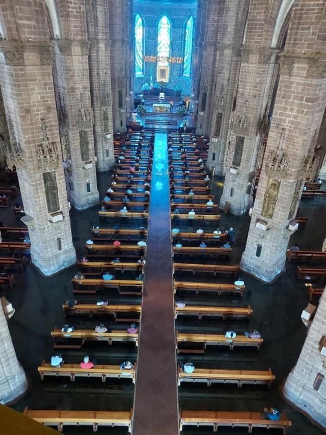 Se aplica protocolo de la Nueva Convivencia en iglesias