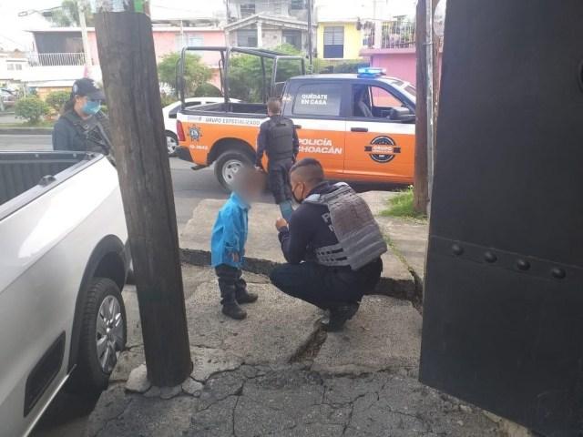Localiza SSP a menor extraviado, en Morelia