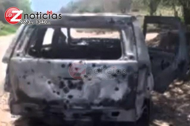 Localizan en Huahua dos cadáveres baleados y una camioneta quemada