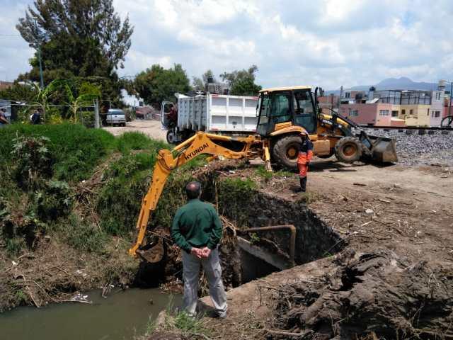 Continúa Gobierno de Morelia con tarea de limpieza en ríos y barrancos del municipio