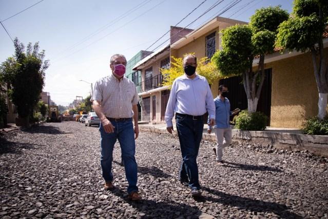 Supervisa Raúl Morón obras en colonias populares de Morelia