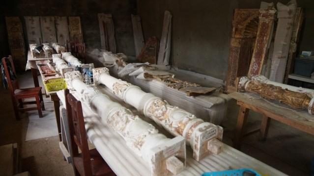 Avanza restauración del retablo del Templo de Santa María Huiramangaro, en Páztcuaro
