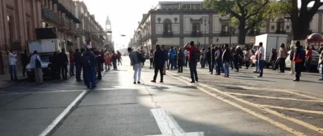 Implementa SSP dispositivo de vigilancia ante manifestación, en Morelia
