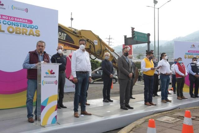 Destaca Raúl Morón inversión del Gobierno de México para la realización de obras en Morelia