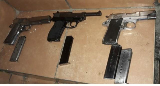 Detienen SSP y GN a cuatro personas en posesión de tres armas en Jacona