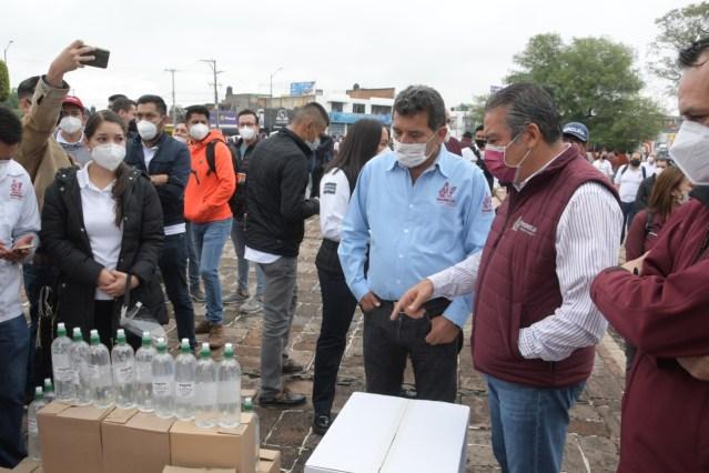 "Raúl Morón encabeza operativo ""vigilantes  sanitarios"", se supervisarán medidas en comercios  de 17 colonias"