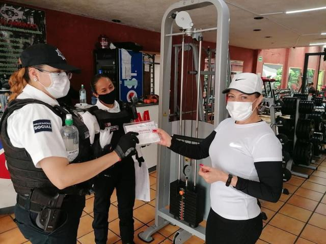 Mantiene Gobierno de Morelia paso firme en la revisión de establecimientos con vigilantes sanitarios