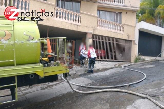 Estalla tanque de gas en domicilio al sur de Morelia; hay 3 mujeres heridas
