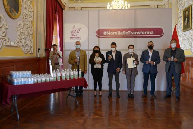 Gobierno de Morelia recibe donación, insumos sanitarios de Heineken