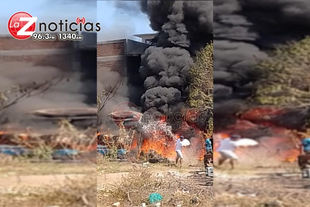 Pleito genera incendio de camión en Lázaro Cárdenas