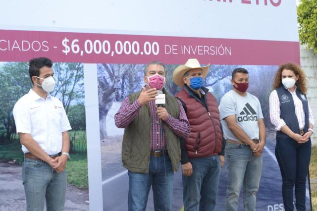 Raúl Morón impulsa desarrollo rural con visión global, se invierten 21.2 mdp en Tiripetío